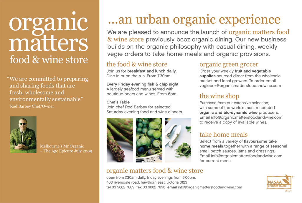 Organic Matters Food and Wine Sto...